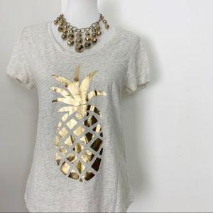Ann Taylor Loft Pineapple T-shirt